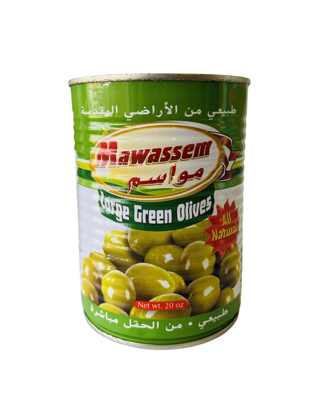 Mawassem Whole Green Olives 12x1lb