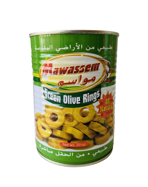 Mawassem Sliced Green Olives 12x1lb