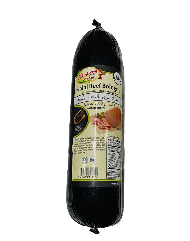 Mawassem Halal Bologna With Peppercorn