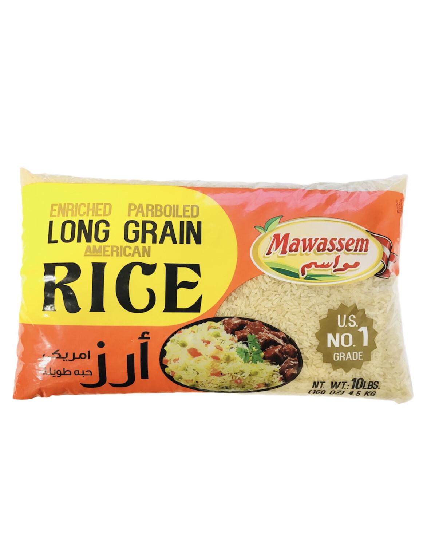 Mawassem Parboiled Rice 4x10lb