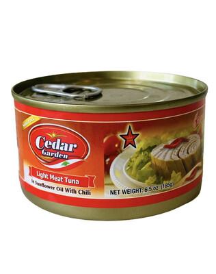 Cedar Garden Tuna With Sunflower Oil & Chili 48x6.5oz