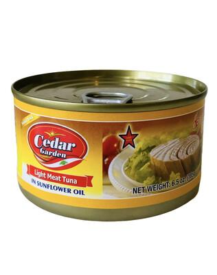 Cedar Garden Tuna With Sunflower Oil 48x6.5oz
