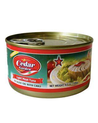 Cedar Garden Tuna With Olive Oil & Chili 48x6.5oz