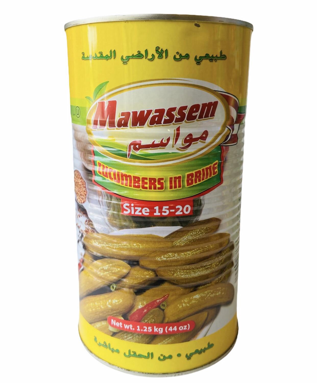 Mawassem Pickled Cucumbers 15/20 Count 12x1.25KG