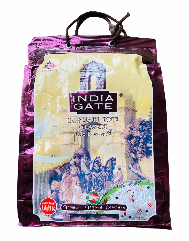 India Gate Classic Basmati Rice 4x10lb