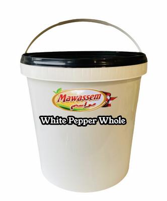 Mawassem 5lb White Pepper Whole