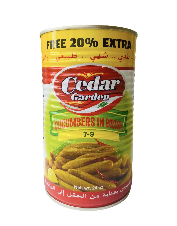 Cedar Garden Pickled Cucumber Count 7/9 12x24oz