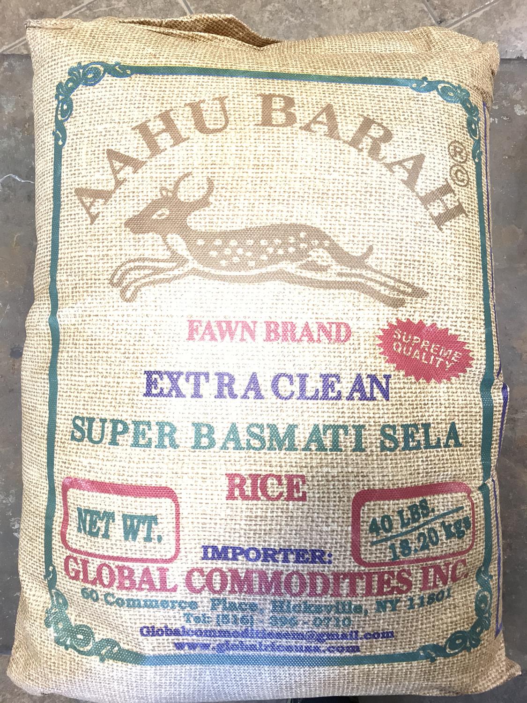 Aahu barah basmati rice 40 Lb