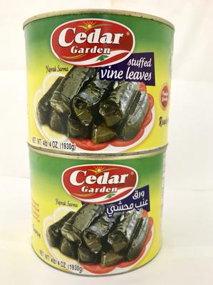 cedar garden stuffed grape leaves 6x2kg