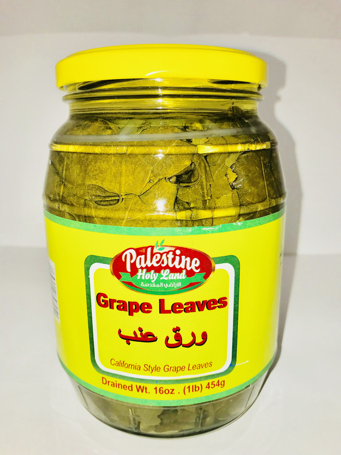 Palestine Holy Land grape leaves 454g
