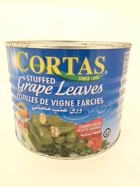 Cortas stuffed grape leaves 6x2kg