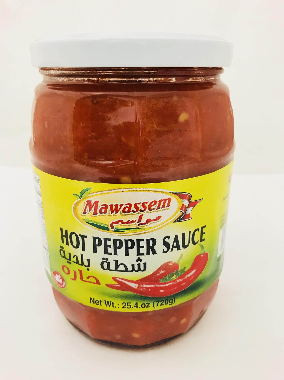 Mawassem hot pepper sauce chatta 720g