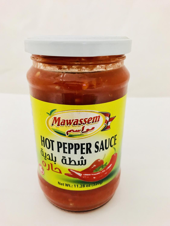 Mawassem hot pepper sauce chatta 320g