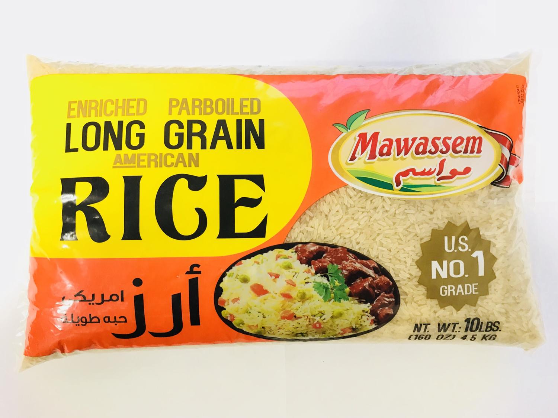Mawassem parboiled rice 4x10 lb