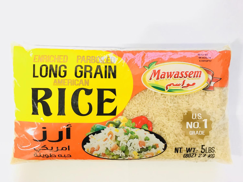 Mawassem parboiled rice 8x5lb