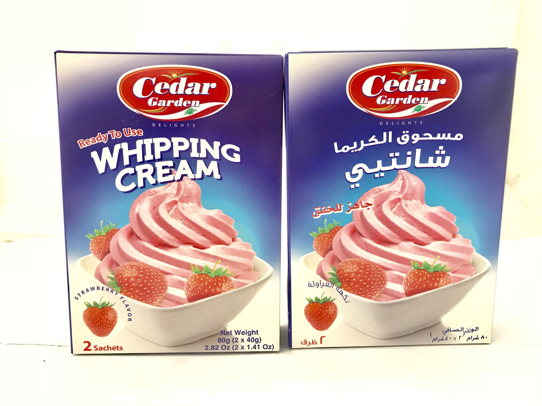 cedar garden Whipping cream strawberry 24x100g