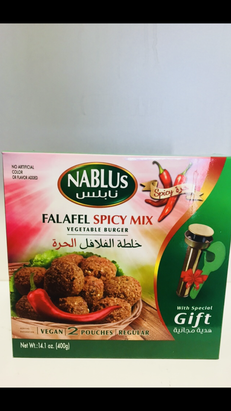 Nablus falafel spicy with gift 12x400g