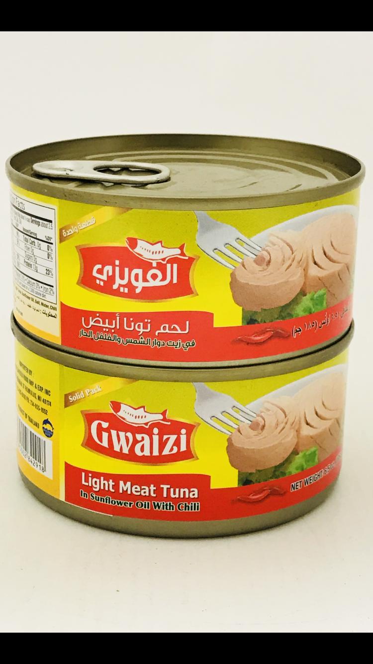 Gwaizi tuna fish with sunflower oil spicy 48 x185 g