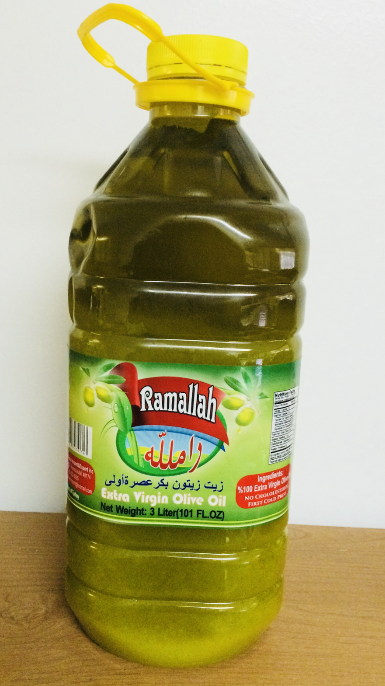 Ramallah extra vergin olive oil 4x3 Ltr