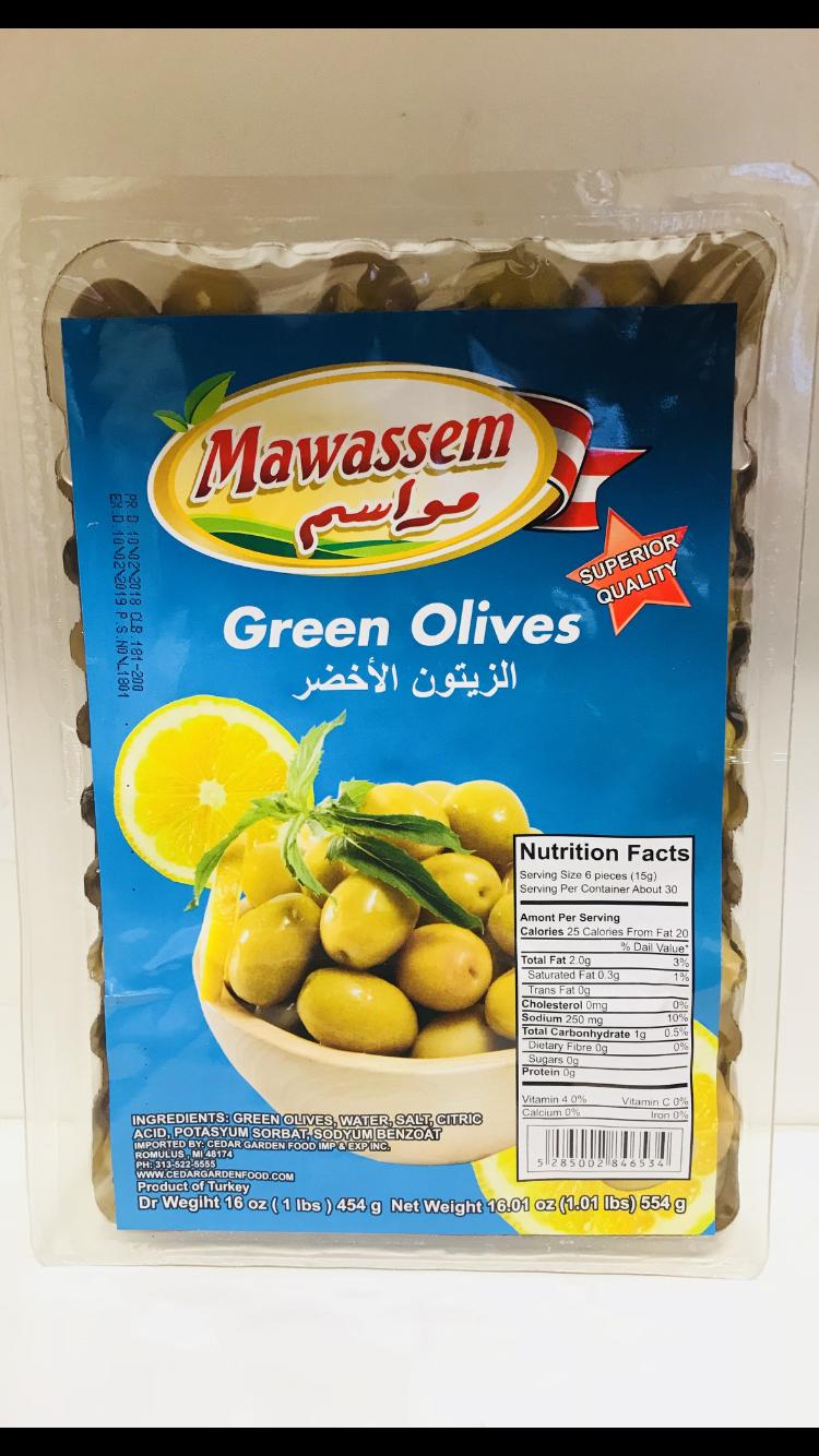 Mawassem Green olive vacum  24x1lb