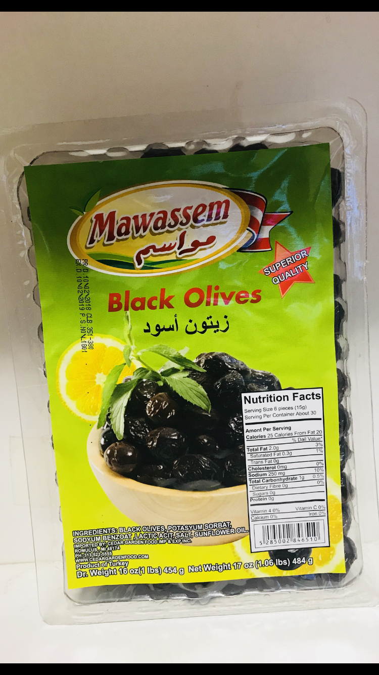 Mawassem Black olive vacum 24x1 lb