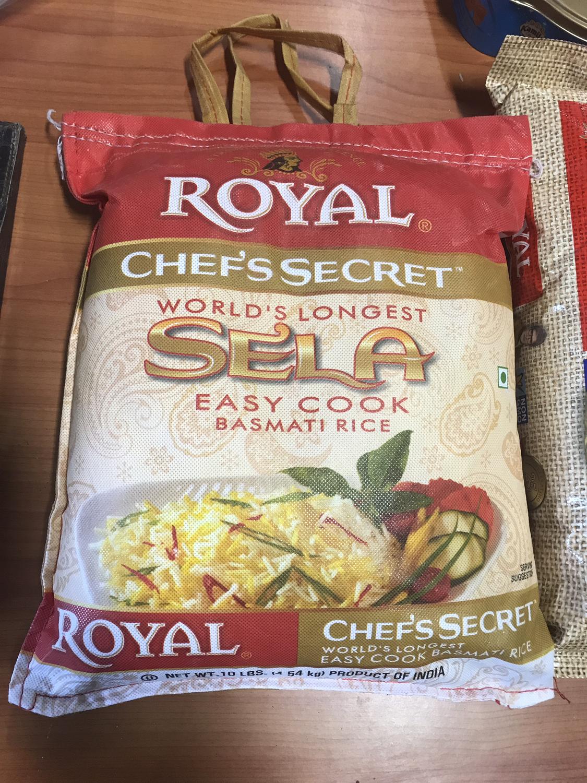 Royal basmati rice sela 10lb