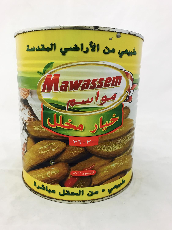 Mawassem cucumber pickle count 30/36  can 6x6lb