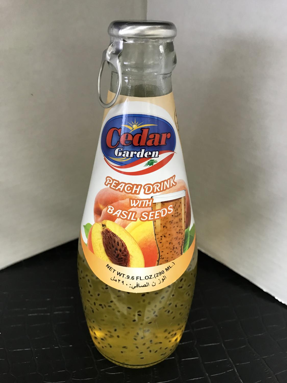 Cedar garden Peach drink with basil seeds 290 ml