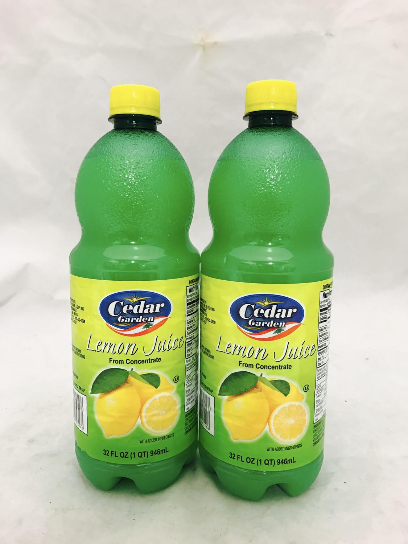 Cedar garden lemon juice 4x1 galon