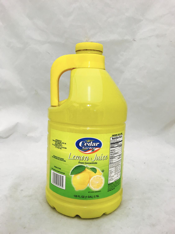 Cedar garden lemon juice 4 x 1 gallon