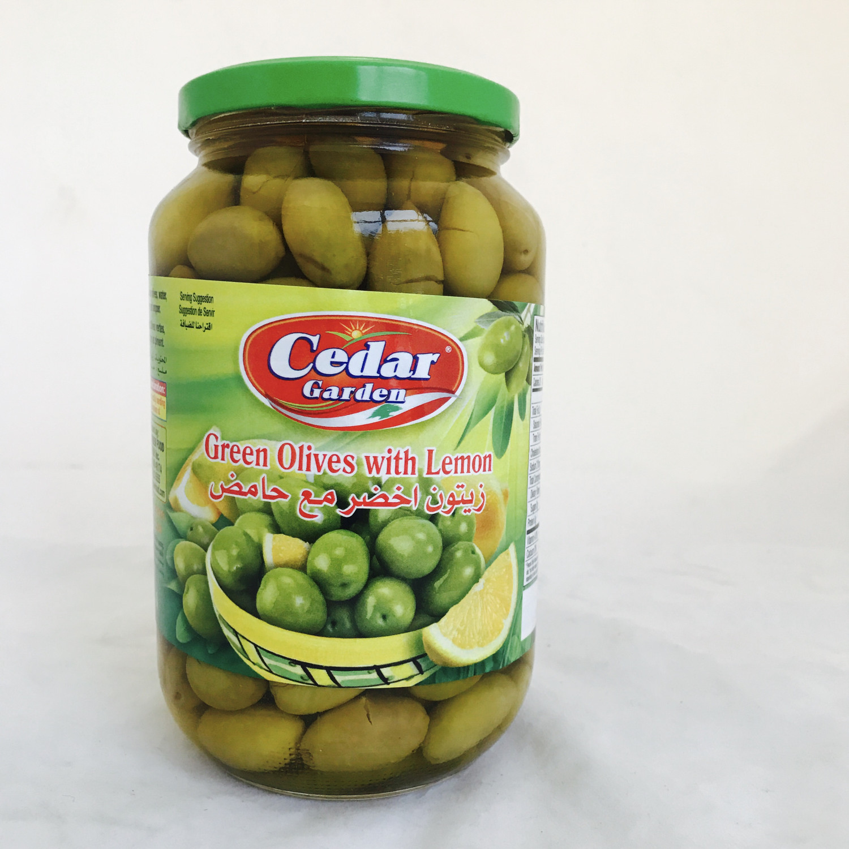 Cedar garden green olive with lemon 12x2lb
