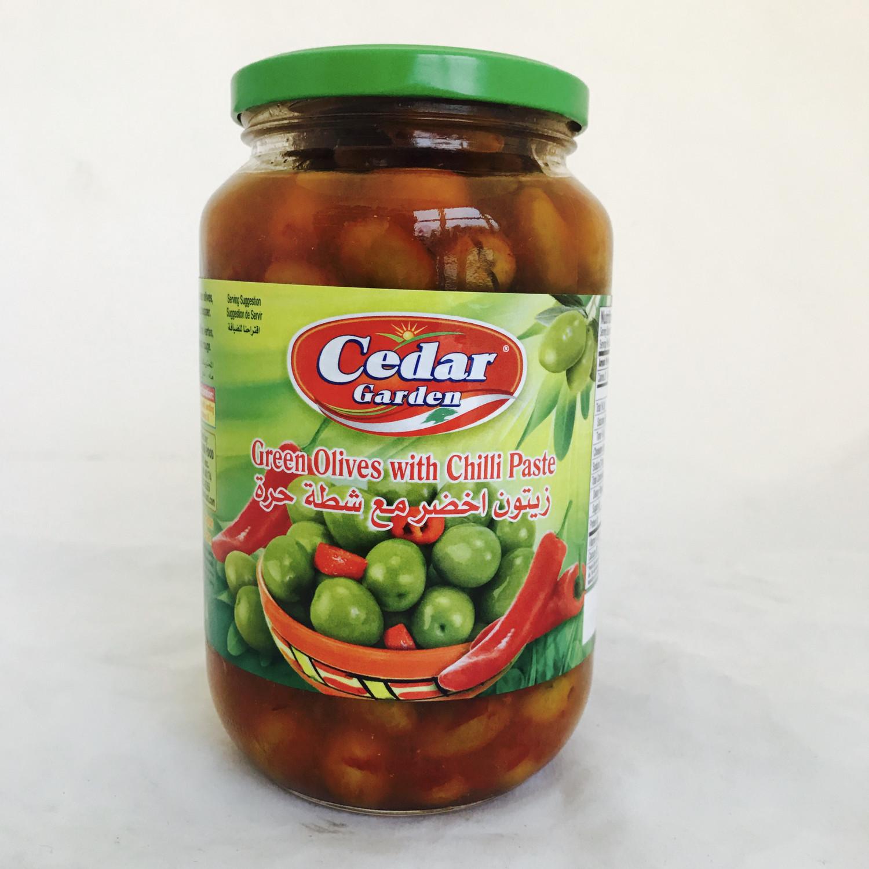 Cedar garden green olive with chatta 12x2lb