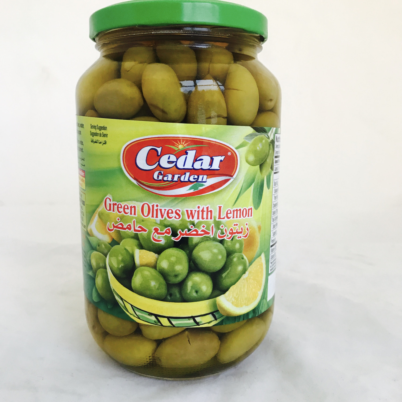 Cedar garden green olive with lemon 12x900g