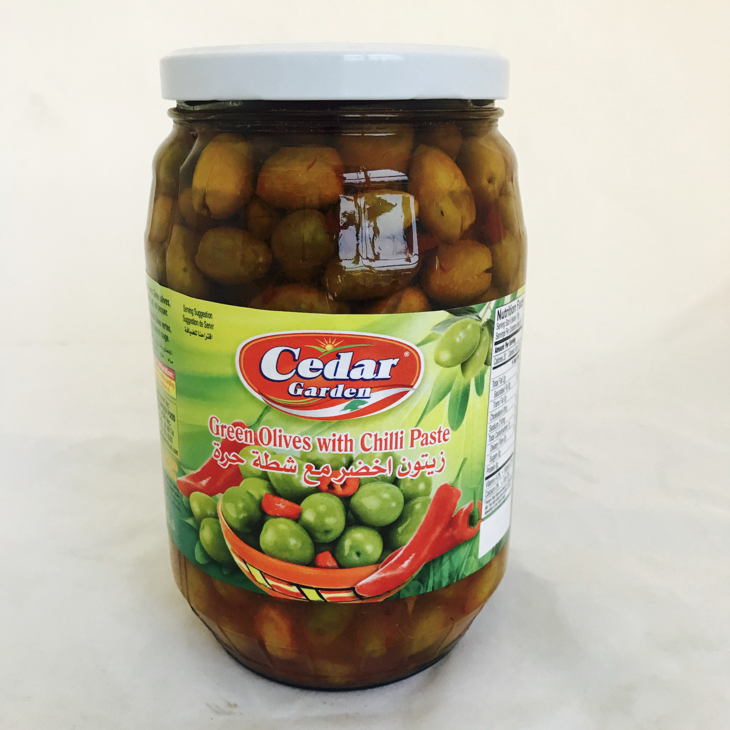 cedar garden green olive with chatta 6x1700 g
