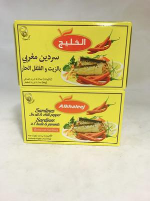 Alkhaleej Sardines in oil & chilli peper 50x125g
