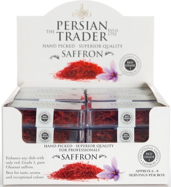 The Persian Trader Horeca Saffron 24x1g