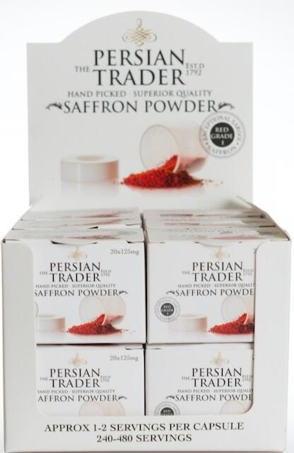 The Persian Trader Topaz Saffron Powder Pack 12x20x125mg