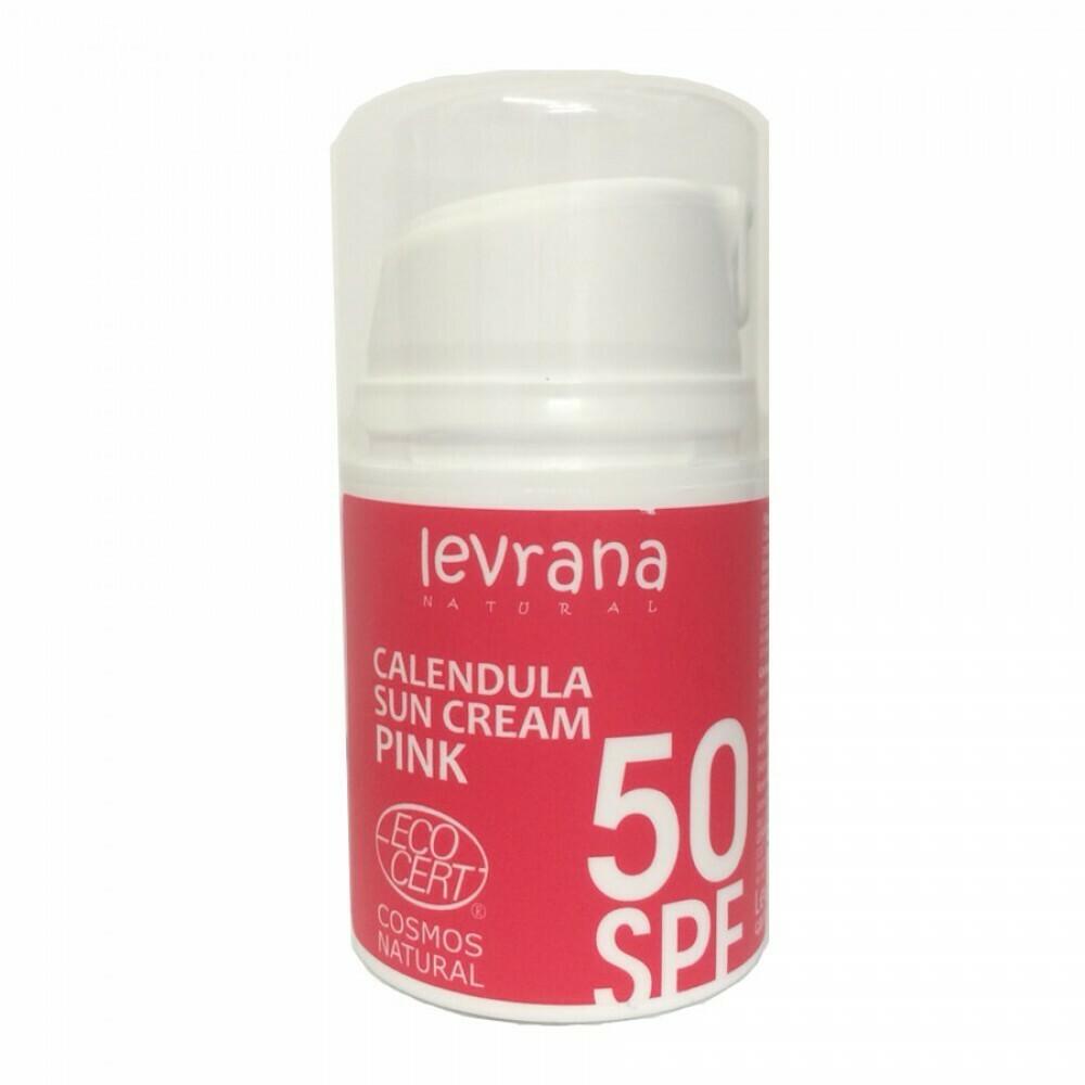 Levrana. Солнцезащитный крем для тела «Календула» 50SPF, 50 мл