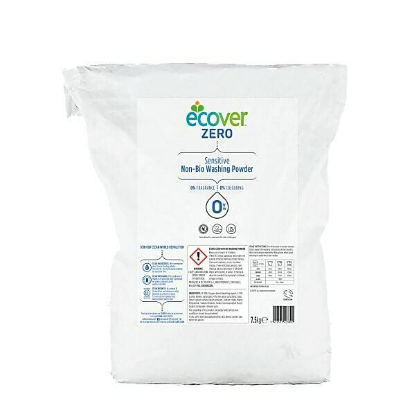 Ecover Zero. Стиральный порошок гипоаллергенный, 7.5 кг
