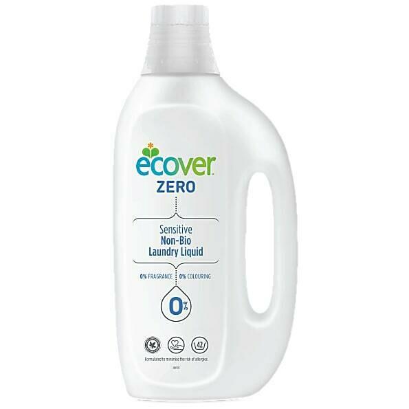 Ecover  Zero. Жидкое средство для стирки гипоаллергенное, 1.5 л (концентрированное)