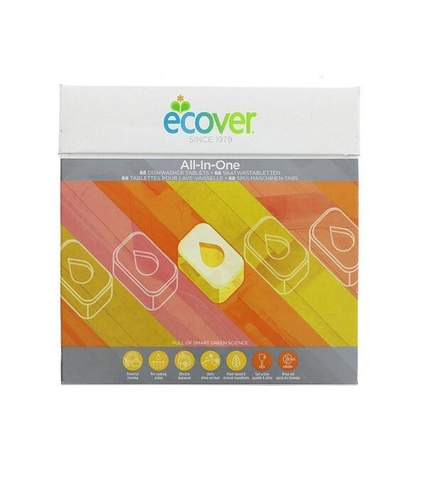 """Ecover. Таблетки для посудомоечной машины """"ВСЕ В ОДНОМ"""" 25 шт., 500 г"""