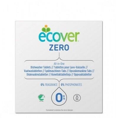 """Ecover ZERO. Таблетки для посудомоечной машины """"ВСЕ В ОДНОМ"""" 25 шт., 500 г"""