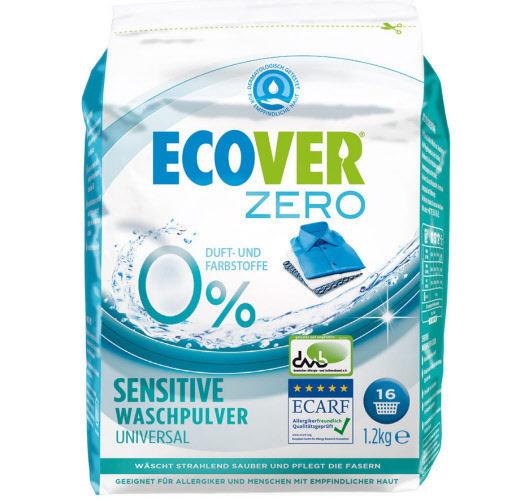 Ecover Zero. Стиральный порошок Sensitive универсальный, 1200 г