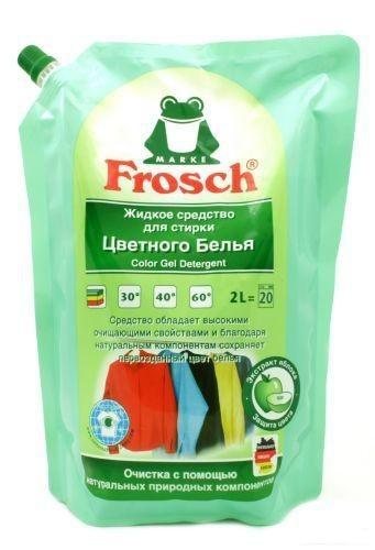 Frosch. Универсальное жидкое средство для стирки цветного белья (мягкая упаковка), 2 л