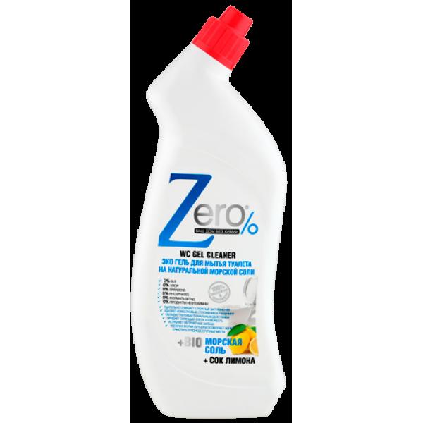 ZERO. Эко гель для мытья туалета на натуральной морской соли + сок лимона, 750 мл