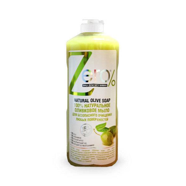 ZERO. Мыло 100% натуральное оливковое для безопасного очищения любых поверхностей, 500 мл