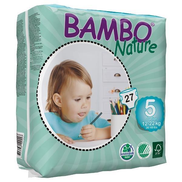 Bambo Nature. Подгузники Junior 5 (12-22 кг), 27 шт.