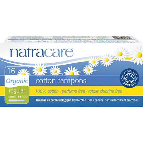 Natracare. Тампоны regular из натурального хлопка без аппликатора, 20 шт.