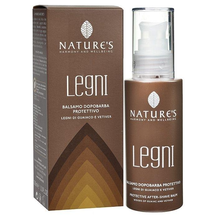 Nature`s. Legni-для мужчин. Бальзам после бритья защитный с гваяковым деревом и ветивером, 100 мл