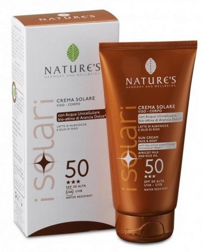 Nature`s. iSolari. Крем солнцезащитный для лица и тела SPF 50, 150 мл
